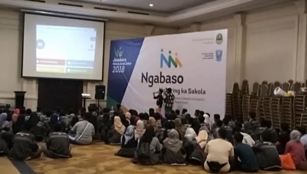 Interaksi FORAKSI Pada Kegiatan Jambore Forum Anak Jawa Barat 2018