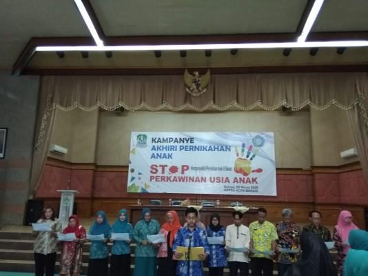 Deklarasi Kampanye Akhiri Pernikahan Anak Di Kota Bekasi.