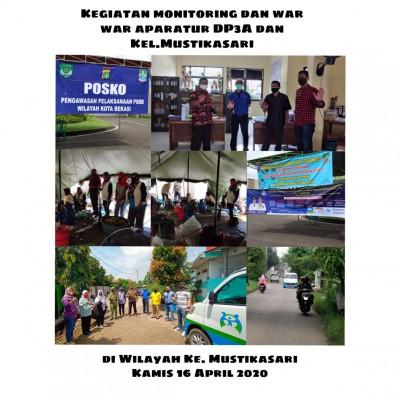 Monitoring Dan Sosialisasi PSBB Di Wilayah Kel. Mustikasari