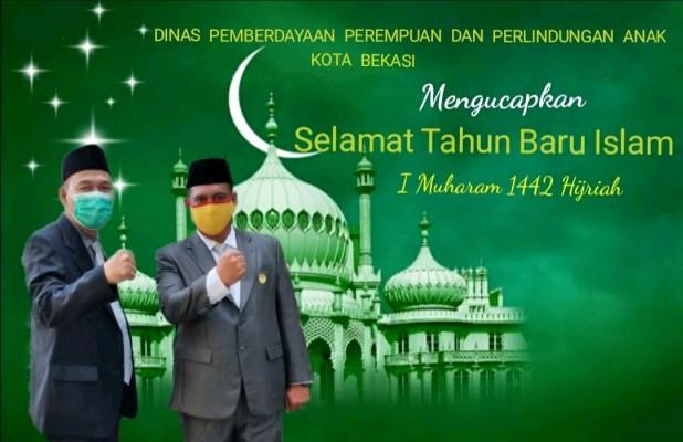Kepala Dan Sekretaris DPPPA Kota Bekasi Mengucapkan Selamat Tahun Baru Islam 1 Muharam 1442 H